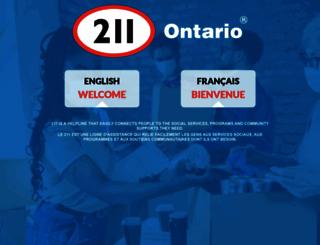 211ontario.ca screenshot