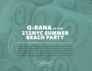 212qbana.splashthat.com screenshot