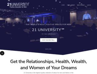 21university.com screenshot