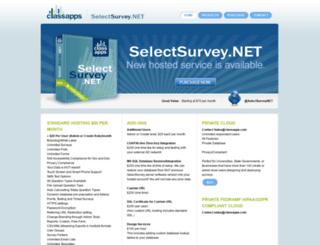 22.selectsurvey.net screenshot