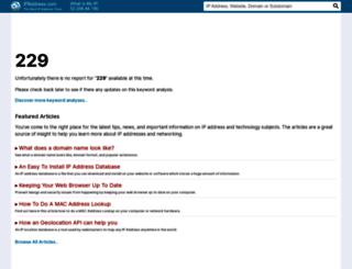 229.ipaddress.com screenshot