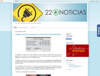 22noticias.blogspot.com screenshot