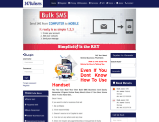 247bulksms.com screenshot