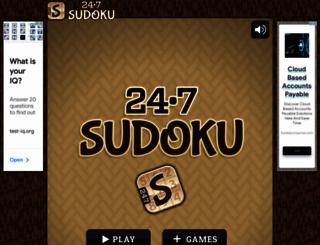 247sudoku.com screenshot