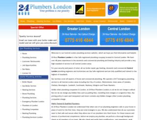 24hour-plumberslondon.co.uk screenshot
