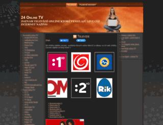 24onlinetv.sk screenshot
