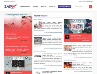 24pressrelease.com screenshot