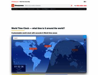 24timezones.com screenshot