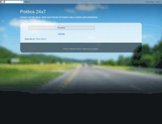 24x7politics.blogspot.com screenshot