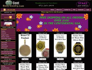 25centbodyjewelry.com screenshot