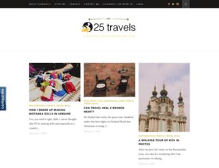 25travels.com screenshot