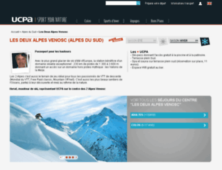 2alpes-venosc.ucpa.com screenshot