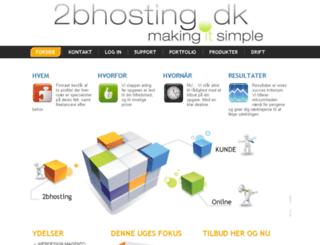 2bhosting.dk screenshot