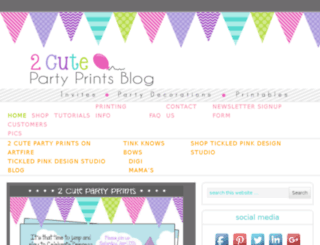 2cutepartyprints.com screenshot