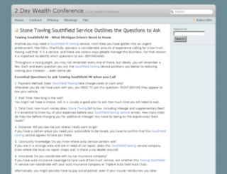 2daywealthconference.com screenshot