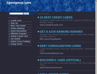 2gosignup.com screenshot