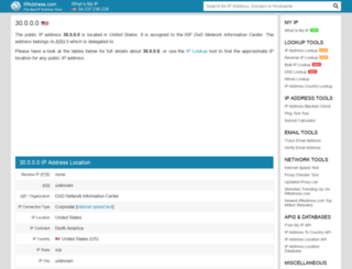 30.ipaddress.com screenshot