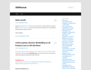 3000fastuk.wordpress.com screenshot