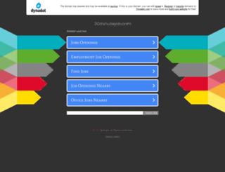 30minutejob.com screenshot