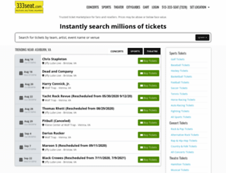 333seat.com screenshot
