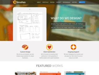 33brushes.com screenshot
