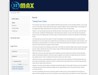 33max.co.uk screenshot