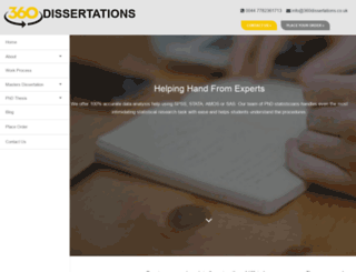 360dissertations.co.uk screenshot