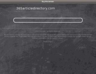 365articledirectory.com screenshot