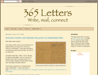 365lettersblog.blogspot.com screenshot
