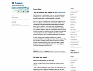 37quadrat.wordpress.com screenshot
