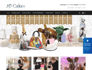 3d-cakes.co.uk screenshot