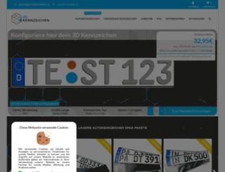 3d-kennzeichen.de screenshot