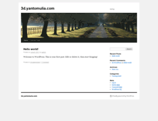 3d.yantomulia.com screenshot