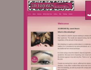 3dbrowsbyjanetmoore.com screenshot