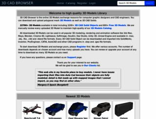 3dcadbrowser.com screenshot