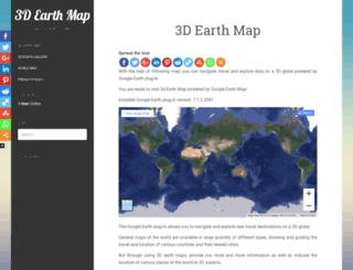 3dearthmap.com screenshot