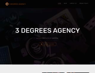 3degreesagency.com screenshot