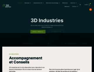 3dindustries.fr screenshot
