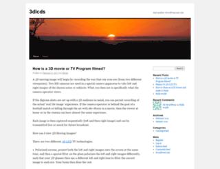 3dlcds.wordpress.com screenshot
