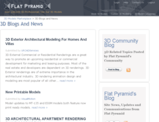 3dmodelblog.flatpyramid.com screenshot