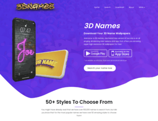 3dnames.net screenshot