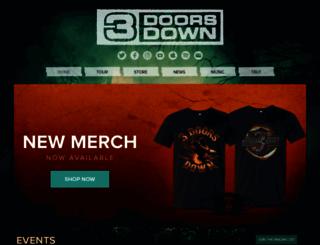 3doorsdown.com screenshot