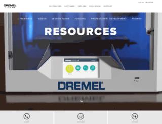 3dprintersupport.dremel.com screenshot