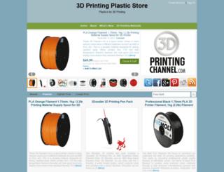 3dprintingplasticstore.com screenshot