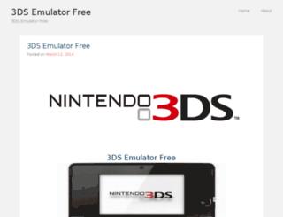3dsemulatorfree1.wordpress.com screenshot