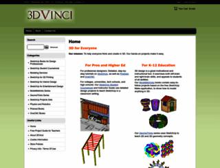 3dvinci.net screenshot