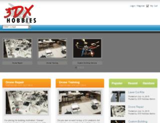 3dxhobbies.pinnaclecart.com screenshot