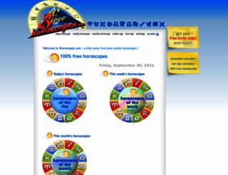 3horoscopes.com screenshot