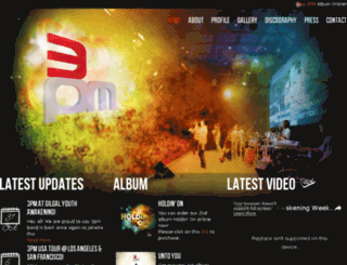 3pmband.com screenshot