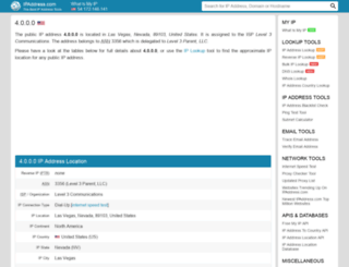 4.ipaddress.com screenshot